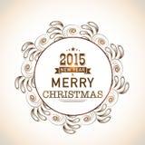 Weihnachts- und guten Rutsch ins Neue Jahr-Feierkonzept mit stilvollem t Lizenzfreie Stockfotos