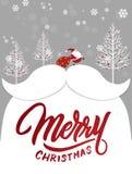 Weihnachts-und guten Rutsch ins Neue Jahr-Gruß-Karte Lizenzfreies Stockfoto