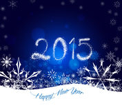 Weihnachts- und guten Rutsch ins Neue Jahr-Schneeflocken Lizenzfreie Stockfotos