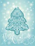 Weihnachts-und neues Jahr-Element - abstrakter Tannenbaum Stockbild