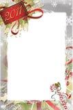 Weihnachts-und neues Jahr-Foto-Feld Stockfotos