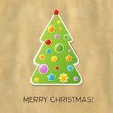 Weihnachts-und neues Jahr-Karte Stockfotografie