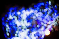 Weihnachts-und neues Jahr-Lichter Bokeh Lizenzfreie Stockbilder