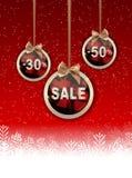 Weihnachts-und neues Jahr-Verkaufs-Hintergrund, Rabatt-Kupon-Schablone Lizenzfreie Stockbilder