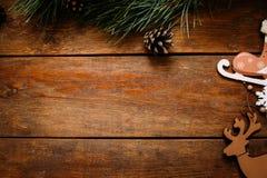 Weihnachts- und Neujahrsfeiertaghintergrund Lizenzfreie Stockbilder