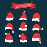 Weihnachts-Weihnachtsmann-Hüte Stockfotografie