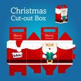 Weihnachts-Weihnachtsmann-Kasten Lizenzfreie Stockbilder