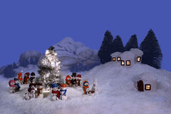 Weihnachtsabend Stockfoto