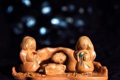Weihnachtsabend in der traditionellen, kulturellen Art gemacht vom Lehm lizenzfreie stockbilder