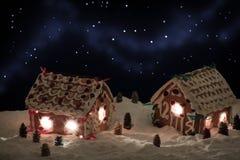 Weihnachtsabend im Honig-cacke Dorf Lizenzfreies Stockbild