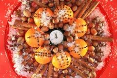 Weihnachtsabend und neue Jahre um Mitternacht Lizenzfreie Stockfotos