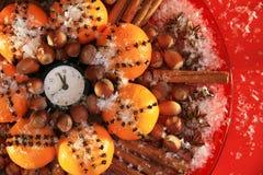 Weihnachtsabend und neue Jahre um Mitternacht Lizenzfreies Stockbild