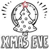 Weihnachtsabends-Skizze Stockfotos