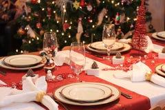 Weihnachtsabendtisch lizenzfreies stockfoto