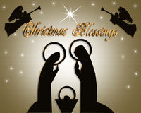 Weihnachtsabstrakte Geburt Christi-Szene lizenzfreie abbildung