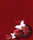 Weihnachtsabstrakte rote Kugeln lizenzfreie abbildung