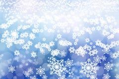 Weihnachtsabstrakter Hintergrund Der Junge gelegt auf den Schnee lizenzfreies stockfoto