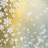 Weihnachtsabstrakter Hintergrund mit Schneeflocken Lizenzfreies Stockfoto