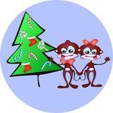 Weihnachtsaffen Lizenzfreie Stockfotos