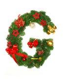Weihnachtsalphabet-Zeichen G Lizenzfreies Stockfoto