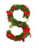 Weihnachtsalphabet-Zeichen S Stockbild