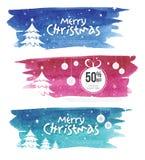 Weihnachtsangebot-Fahnen-Design-Schablone Stockfoto