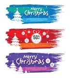 Weihnachtsangebot-Fahnen-Design-Schablone Lizenzfreie Stockbilder