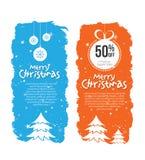 Weihnachtsangebot-Fahnen-Design-Schablone Lizenzfreies Stockbild