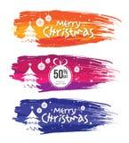 Weihnachtsangebot-Fahnen-Design-Schablone Stockbild