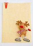 Weihnachtsanmerkungspapier. stockbild
