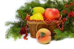 Weihnachtsanordnung in einer rustikalen Art Lizenzfreie Stockfotos