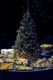 Weihnachtsaperitifbildschirmanzeige lizenzfreie stockbilder