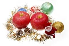 Weihnachtsapfel Lizenzfreies Stockfoto