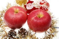 Weihnachtsapfel Stockbild