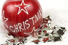 Weihnachtsapfel Stockfotos