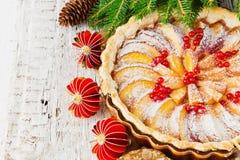 Weihnachtsapfelkuchen Lizenzfreie Stockfotografie