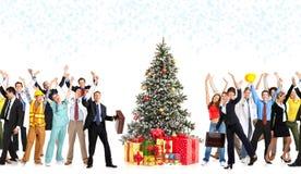 Weihnachtsarbeitskräfte Stockbild