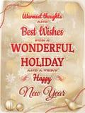 Weihnachtsart Design mit Schneeflocken ENV 10 Stockfotos