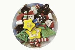 Weihnachtsart verzierte bunte Plätzchen Lizenzfreie Stockfotos