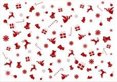 Weihnachtsartikelsymbole - Hintergrund stock abbildung