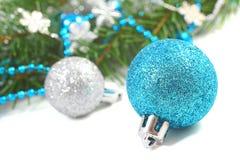 Weihnachtsaufbau über Weiß Lizenzfreie Stockfotos
