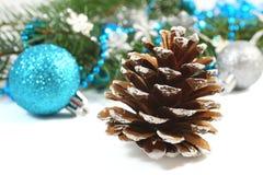 Weihnachtsaufbau über Weiß Lizenzfreie Stockfotografie