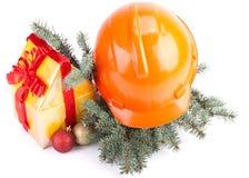 Weihnachtsaufbau Stockfoto