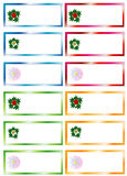 Weihnachtsaufkleber Lizenzfreies Stockbild