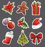 Weihnachtsaufkleber Lizenzfreie Stockfotos