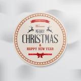 Weihnachtsaufkleber Stockfotografie