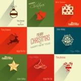 Weihnachtsaufkleber Stockfoto
