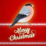Weihnachtsaufkleber mit Bullfinch ENV 10 Stockbild