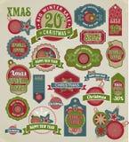 Weihnachtsaufkleber, Umbauten, Ziergegenstände stock abbildung