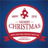 Weihnachtsaufkleber-und -ausweis-Vektor-Design Dekorationselemente Stockfotografie